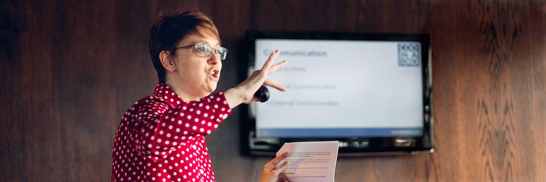 Business educator Lisa Zevi